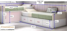 L Shape Two Twin Beds lower higher