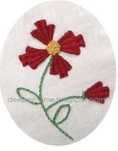 Indian-embroidery technique. Tutorial. Técnica de bordado con punto Indio.