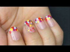 Fun colorful dot nails I Futilities And More