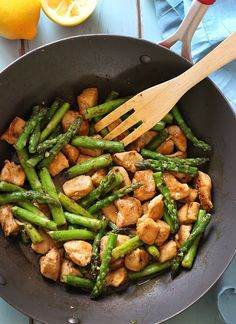 Chicken and asparagus