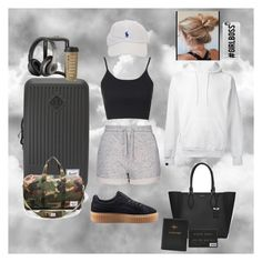 """""""Go to ✈️"""" by flaviecygan ❤ liked on Polyvore featuring Topshop, SWEAR, Herschel Supply Co., Michael Kors, Beats by Dr. Dre, Puma, Kate Spade and Casetify"""