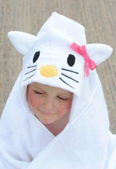 Hello Kitty Hooded Towel Pattern