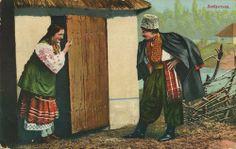 Verführung, Ukraine, Postkarte, ca. 1900