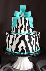 blue zebra cake - Google Search