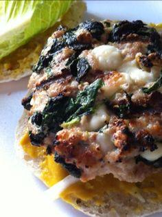 Spinach,feta,turkey burger | Almostafoody's Blog