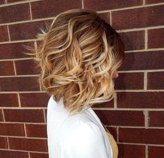 Sexy and Subtle Curly Bob Hairstyle