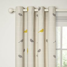Buy John Lewis Bird on a Wire Lined Eyelet Curtains