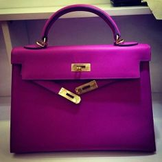 Amazing color! Hermes Kelly bag