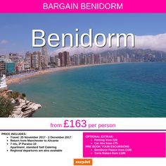 @benidormonline LOVEBENIDORM *2018 departure* from £163 per person, Manchester Airport departure, other regional airports are available.