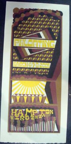 Original silkscreen concert poster for Phish in Hampton, VA in 2009. It is printed on Watercolor Paper with Acrylic Inks and measures around 10 x 19 inches.  Print is signed and numbered out of only 90 by the artist Tripp.