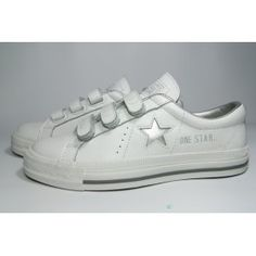 converse one star leather 3 strap velcro ox