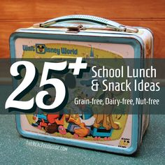 25+ Grain-free, dairy-free, nut-free Paleo school lunch and snack ideas - The Real Food Guide therealfoodguide.com
