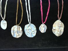 Silver necklaces by Kristin Schwartz of Silver Cherry. Located in the crafts market.