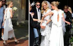 ¿Pero no era la novia la que vestía de blanco?  Cara y la tendencia de que la dama de honor también vista de blanco