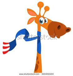 Vector illustration of african savanna giraffe smiling. Giraffe Illustration, Funny Giraffe, Funny Cartoons, African, Outdoor Decor, Cute Cartoon, Funny Comics