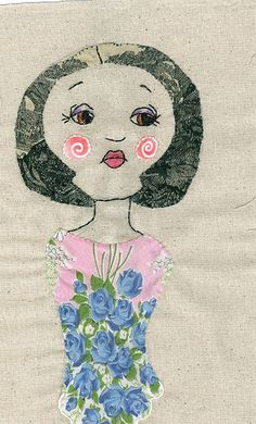 absent abigail | embroidery on osnaberg cloth with applique … | Flickr