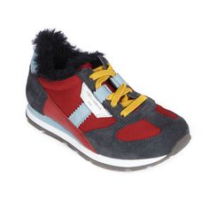 Dark grey and red trainers Grey