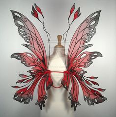 Posie fairy wings in red by ~glittrrgrrl on deviantART