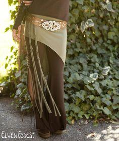 Elven OverSkirt Shirt  Tribal Yoga asymmetrical by ElvenForest, $38.00
