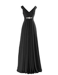 Yougao Women's V Neck A-Line Chiffon Long Floor Length Evening Dress Gown US 2 Black Yougao http://www.amazon.com/dp/B00ZU77DBW/ref=cm_sw_r_pi_dp_RI-Pvb1CJ0CXX