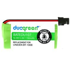 duogreen Cordless Telephone Battery for Uniden BT-1008 BT-1016 DECT2060 DECT2080-2 DWX-207 WXI-2077 WX12077 2AAA Ni-MH 700mAh High Capacity by Duogreen. $8.99. duogreen is a registered trademark of iOttie, and it strive to provide the customers with the top quality products at all times. duogreen undergoes series of rigorous screening processes of all its products through continuous testing and sampling to maintain its top notch manufacturing process. In addition to the qualit...