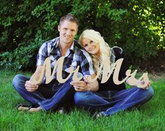 Mr and MrsWooden Alphabet Letters DIY Engagement by WoodlandWords, $19.95