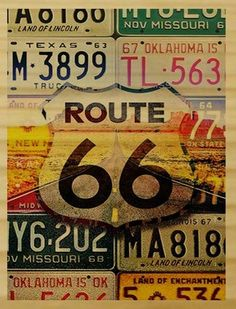 New Mexico - Route 66 License Plates - Lantern Press Artwork Giclee Art Print, Gallery Framed, Espresso Wood), Multi Route 66 Road Trip, Highway Road, Travel Route, Pin Up Girls, License Plate Art, Historic Route 66, Deck Of Cards, Card Deck, Vintage Travel