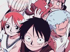 Luffy, Nami, Zoro, Sanji, Chopper, Usopp, Robin, funny, picture, photo, gif; One Piece