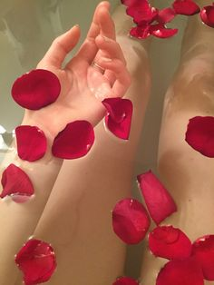 ideas for bath rose petals Red Aesthetic, Aesthetic Photo, Water Aesthetic, The Rocky Horror Picture Show, All I Ever Wanted, Jolie Photo, Back To Nature, Valentines, Mood