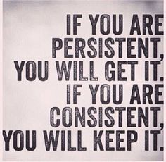 Persistent/Consistent