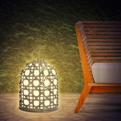Chicken Cage Lampe / Chicken Cage Lamp / Outdoor Lamp Chicken Cages, Building A Chicken Coop, Coops, Home Decor Inspiration, Ceiling Lights, Chair, House, Outdoor, Furniture