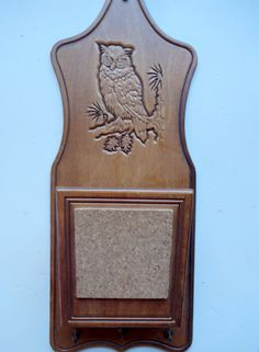 Vintage Wooden Mail and Key Holder Wall Hanging by WylieOwlVintage, $14.00