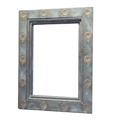 Ro Sham Beaux: Ananas Mirror  36 x 48 or 48 x 72 - Iron mirror with flower accents.  $1,188- $1,688. To order, call us at 843-641-7087.