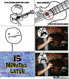 I remember getting picks stuck in my dad's guitar when I was little. I would always have to take it to him 'cause I could never get them back out again O.o XD