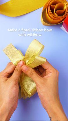 Diy Bow, Diy Ribbon, Ribbon Crafts, Ribbon Bows, Ribbons, Easter Crafts For Adults, Crafts For Kids, Sell Diy, Crafts To Sell