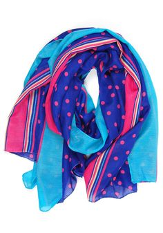 Date at the Diner Scarf: Cobalt