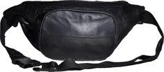 Bauchtasche Echt-Leder mit Fronttasche Reißverschluss