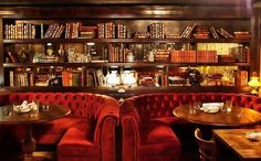 Nestled underneath Gilt Bar, The Library is a dim lounge filled with inviting, tufted booths and shelves stocked with vintage books. Head into Gilt Bar, spot the narrow stairway, and head downstairs. Top-notch cocktails will get your night started swimmingly, but Gilt Bar's food menu will make you stick around for a while and soak in the scenery.