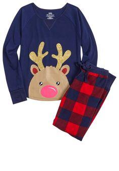 Reindeer Pajama Set (original price, $9.99) available at #Justice