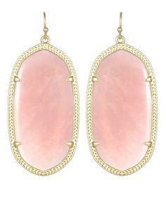 Danielle Statement Earrings in Rose Quartz - Kendra Scott Jewelry