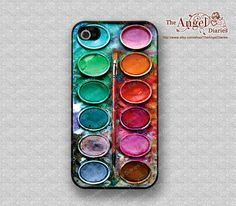 ON SALE-Water color paint set  iPhone 4 Case,Friendship iPhone 4s Case, iPhone 4 Hard Plastic Case, Personalized iPhone Case--water proof via Etsy