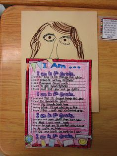 Runde's Room: We're Off to a GREAT Start! I Am poem template and art project perfect for back to school. Post contains link to free poem download.