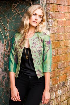 Cashmere Juna Jacket in Tree of Life Dragonfly by ShibumiStyle, £225.00