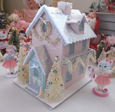 Customized Pink Christmas House by saturdayfinds,