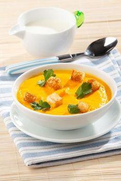 Морковный суп с чесноком