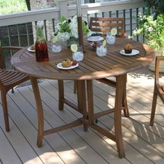 CHECK OUT! https://seethis.co/2P95X/ #Folding #Dining #Table #Outdoor #Eucalyptus #Umbrella #Hole #Portable #Furniture #BROWN