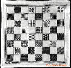 bordado español Tablero de ajedrez
