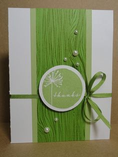 Card idea for Woodgrain Embossing Folder and/or Background Stamp - beautiful with your floral stamps