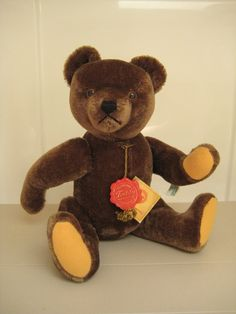 Hermann Vintage 1980s Chocolate Brown Mohair Bear  by GrandmaJer, $44.99