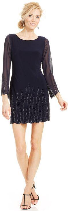 Xscape Petite Beaded Sheath Dress